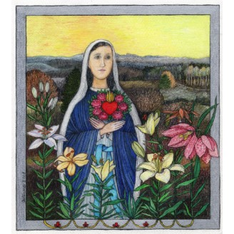 Maria Panna v liliích